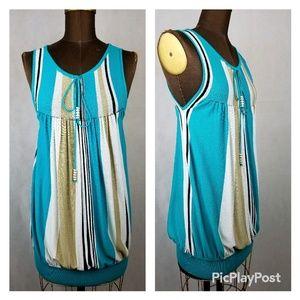 Escada sleeveless mini dress tunic cashmere blend